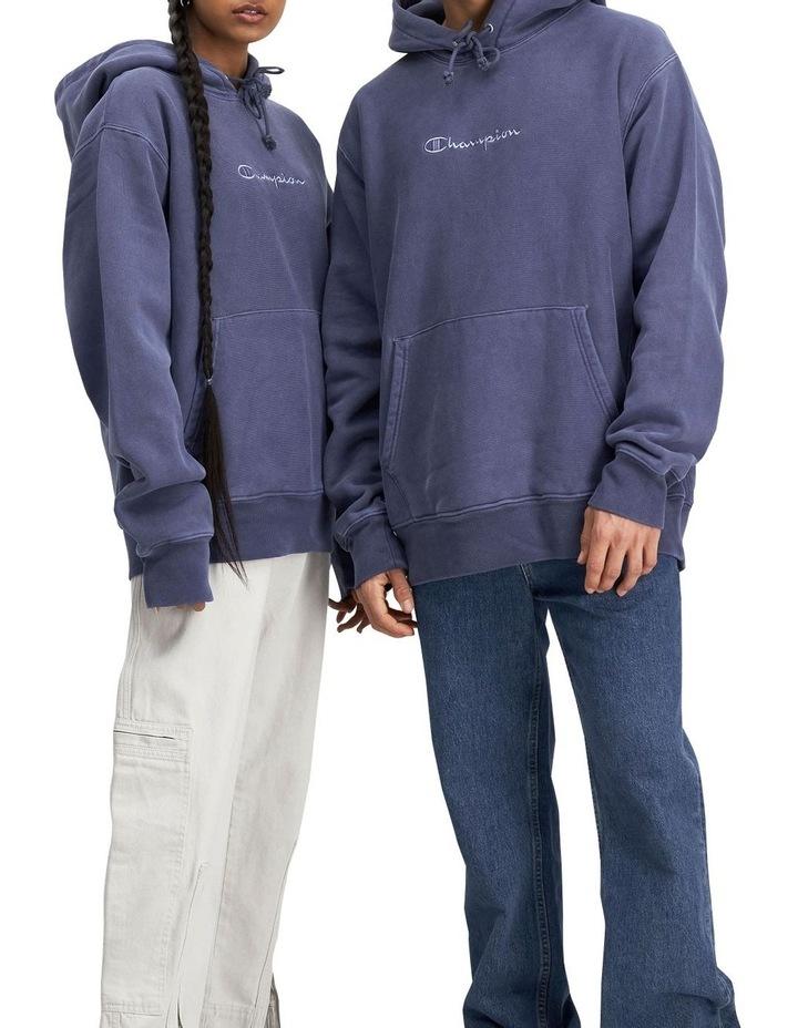 Reverse Weave Terry Garment Dye Hoodie image 1