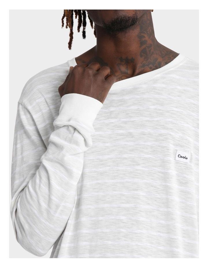 B.Original Long Sleeve Tee Bone Stripe image 4