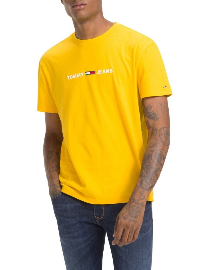 Tommy Jeans T Shirt TJM Small Text Spectra Yellow