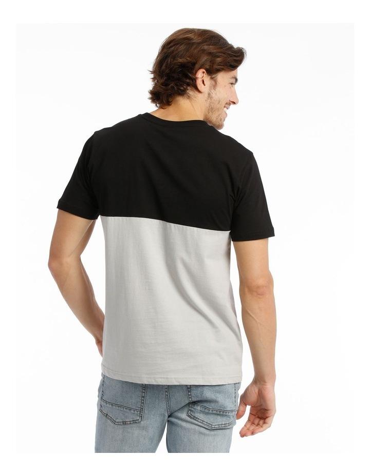 Panel T-Shirt - Black/Grey image 3