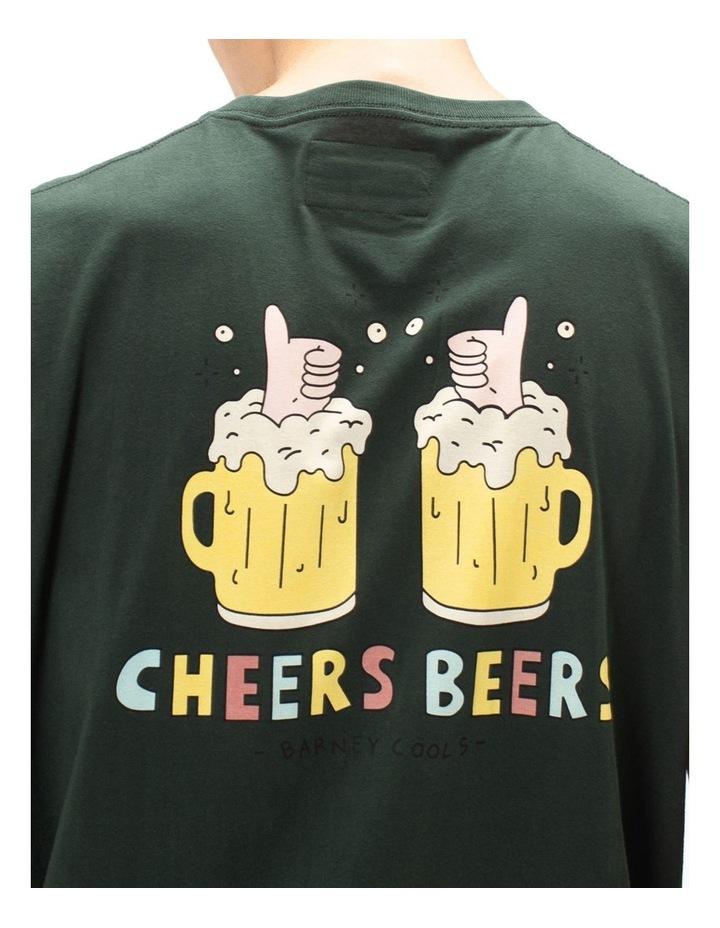 Cheers Beers Muscle Tee Green image 2