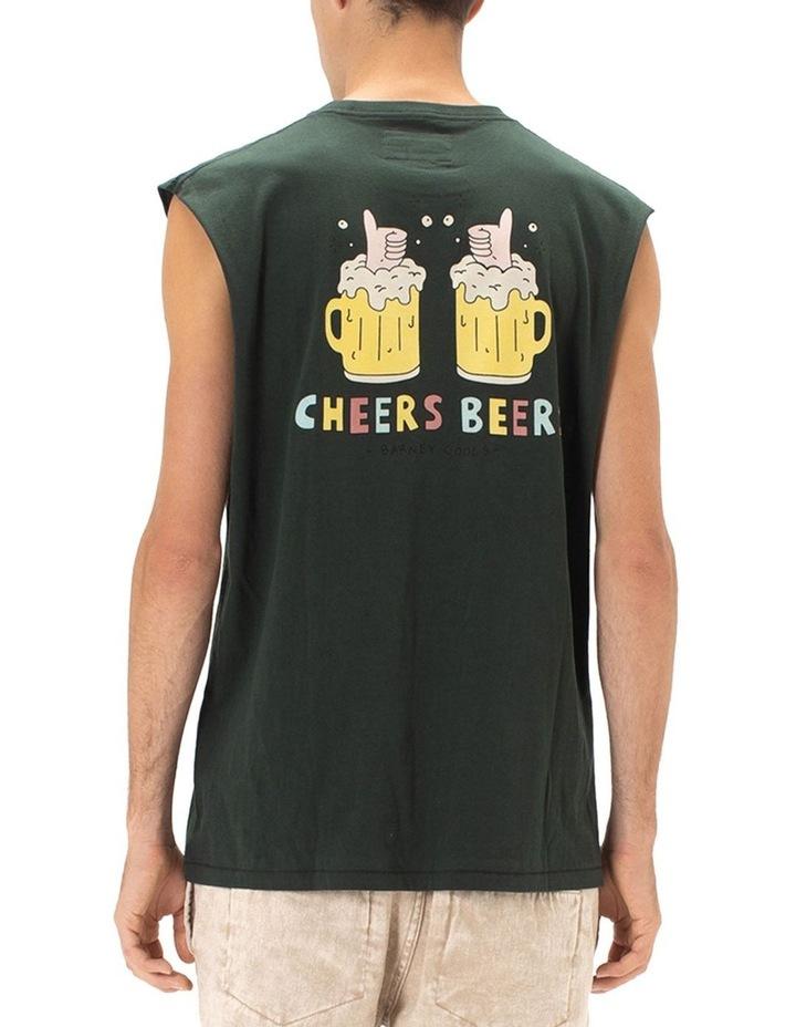Cheers Beers Muscle Tee Green image 5
