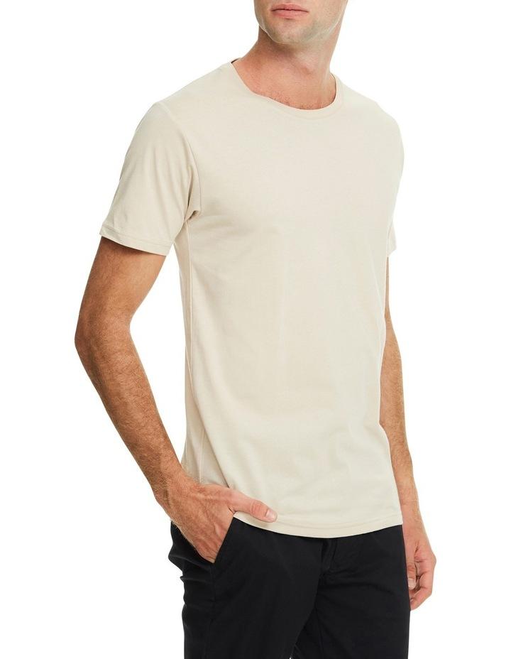 Plain Crew T-Shirt in Sand image 3