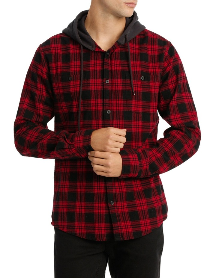 MORRY FLANNEL HOODED SHIRT image 1
