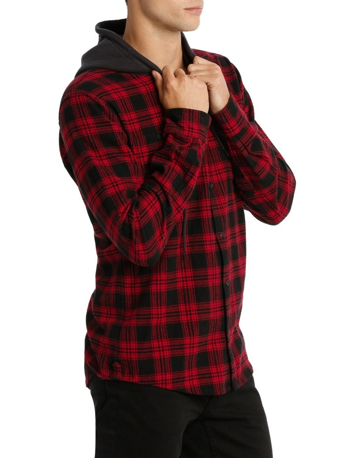 MORRY FLANNEL HOODED SHIRT image 2