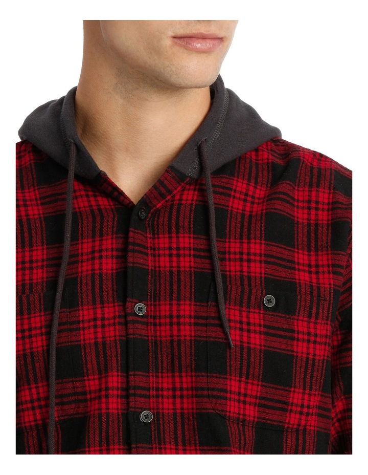 MORRY FLANNEL HOODED SHIRT image 4