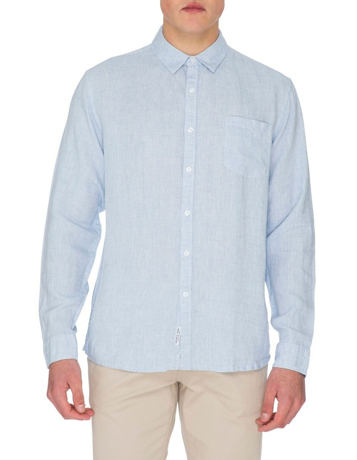 Zane Long Sleeve Linen Shirt image 1