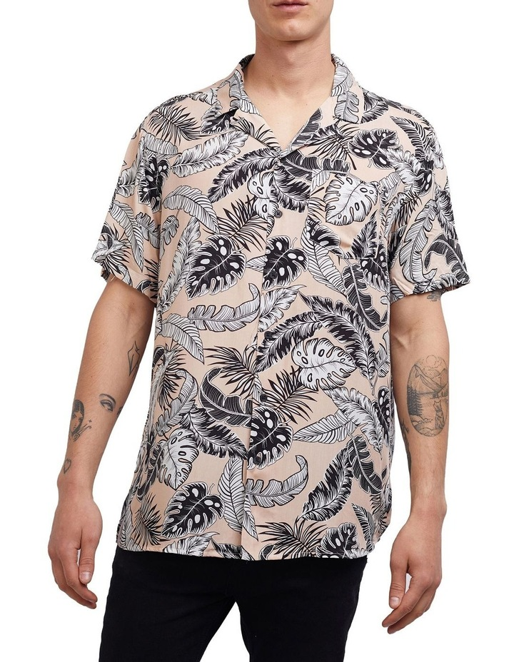 Loose Leaf Short Sleeve Shirt Coral image 1