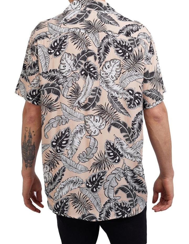 Loose Leaf Short Sleeve Shirt Coral image 2