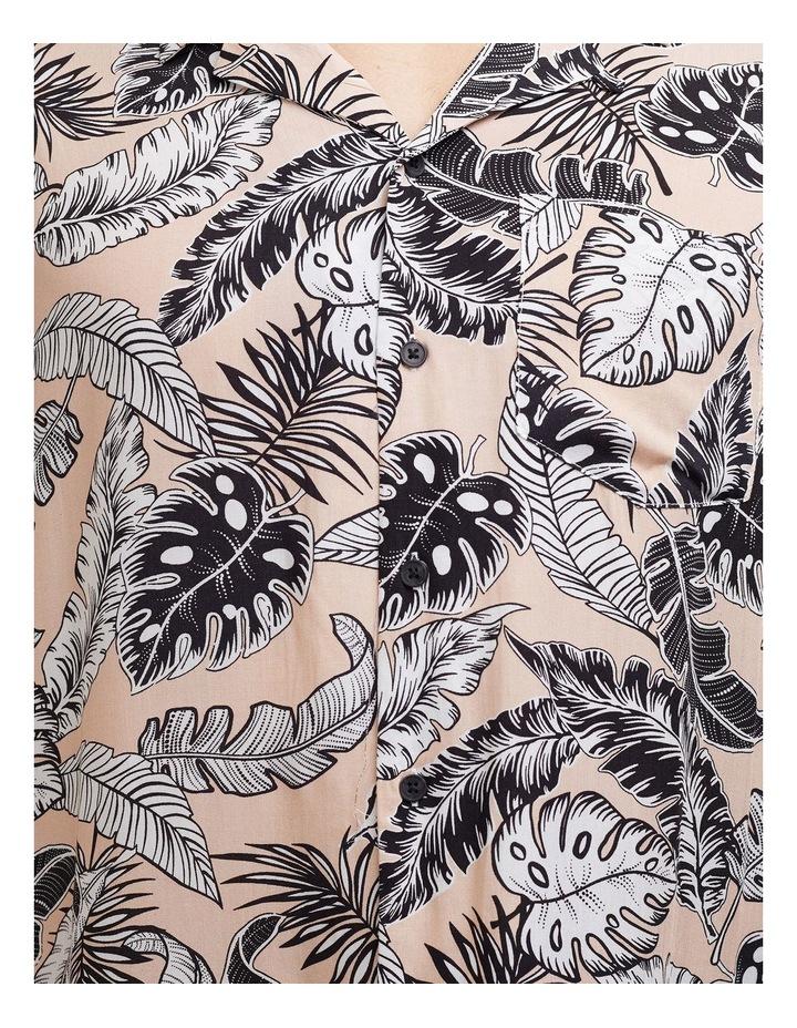 Loose Leaf Short Sleeve Shirt Coral image 3