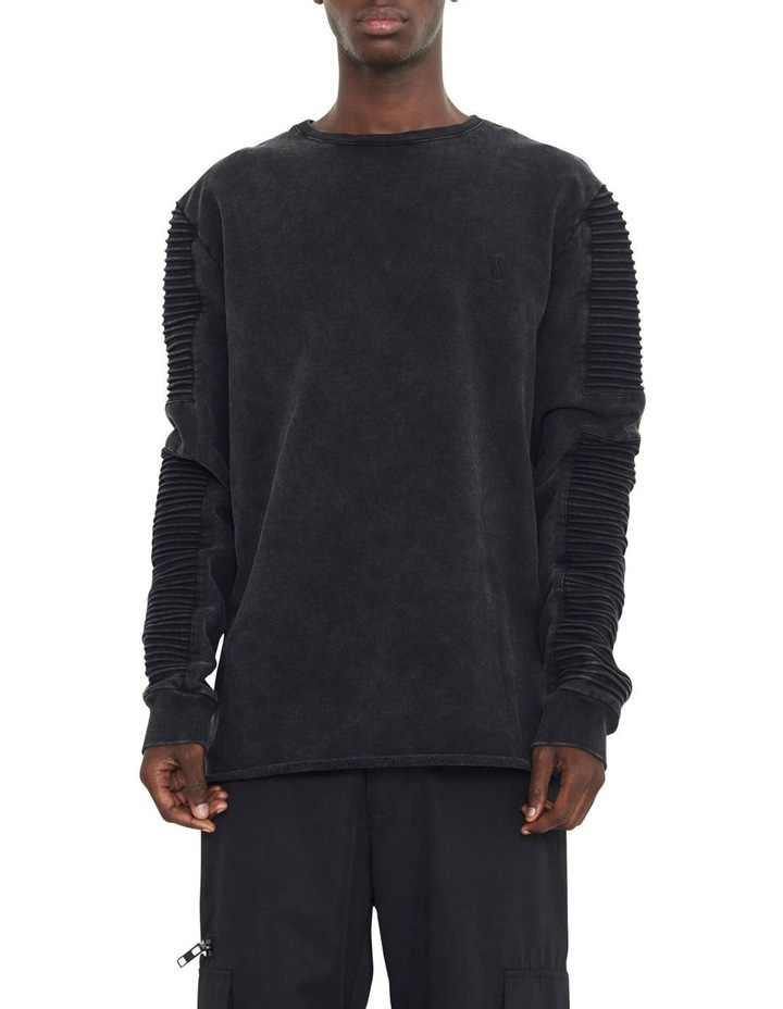 Montana Crew Sweater With Pin Tuck Sleeve Design image 1