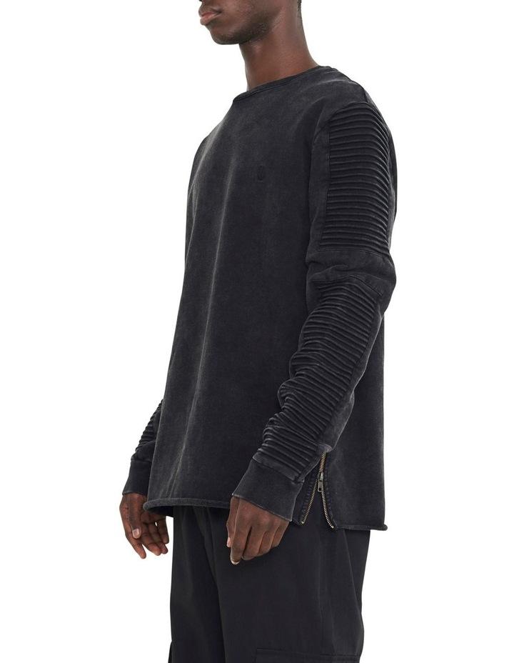Montana Crew Sweater With Pin Tuck Sleeve Design image 2
