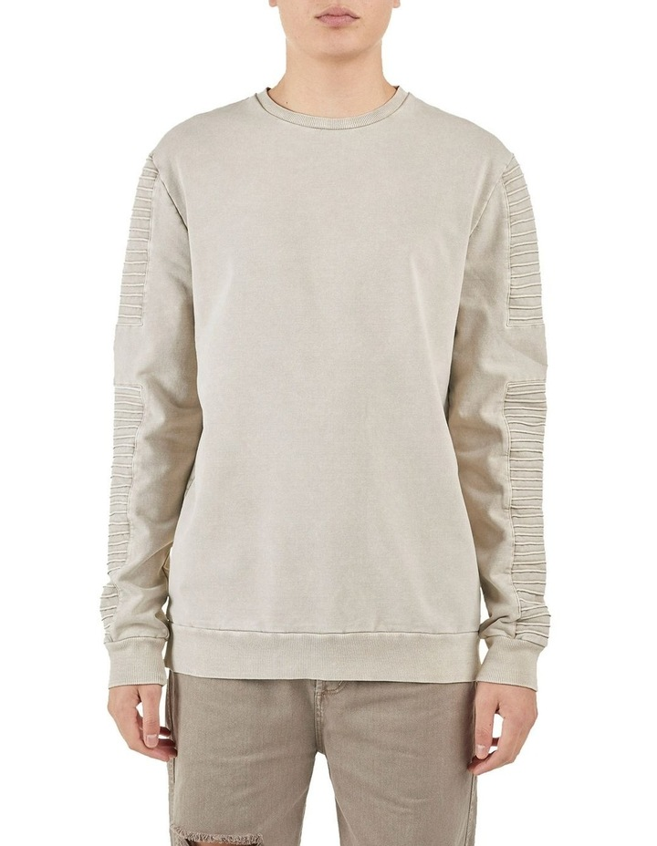 Montana Crew Neck Pin Tuck Sleeve Sweater Sanddune image 1