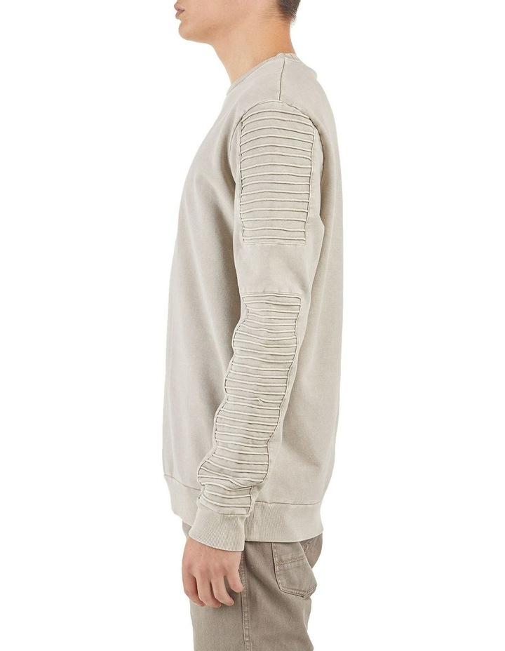 Montana Crew Neck Pin Tuck Sleeve Sweater Sanddune image 2