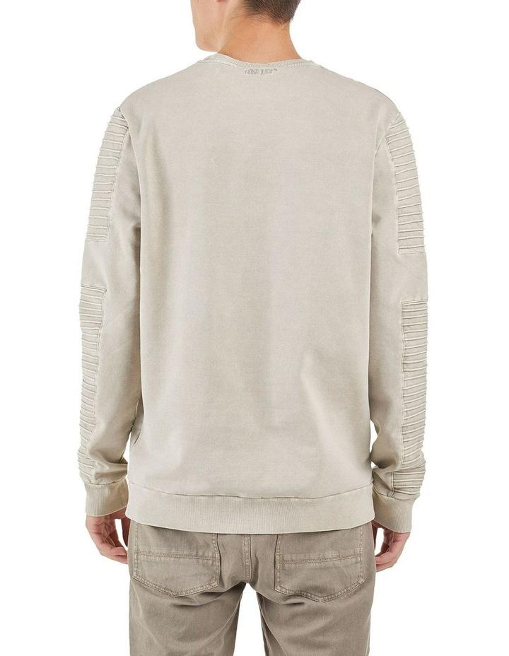 Montana Crew Neck Pin Tuck Sleeve Sweater Sanddune image 3