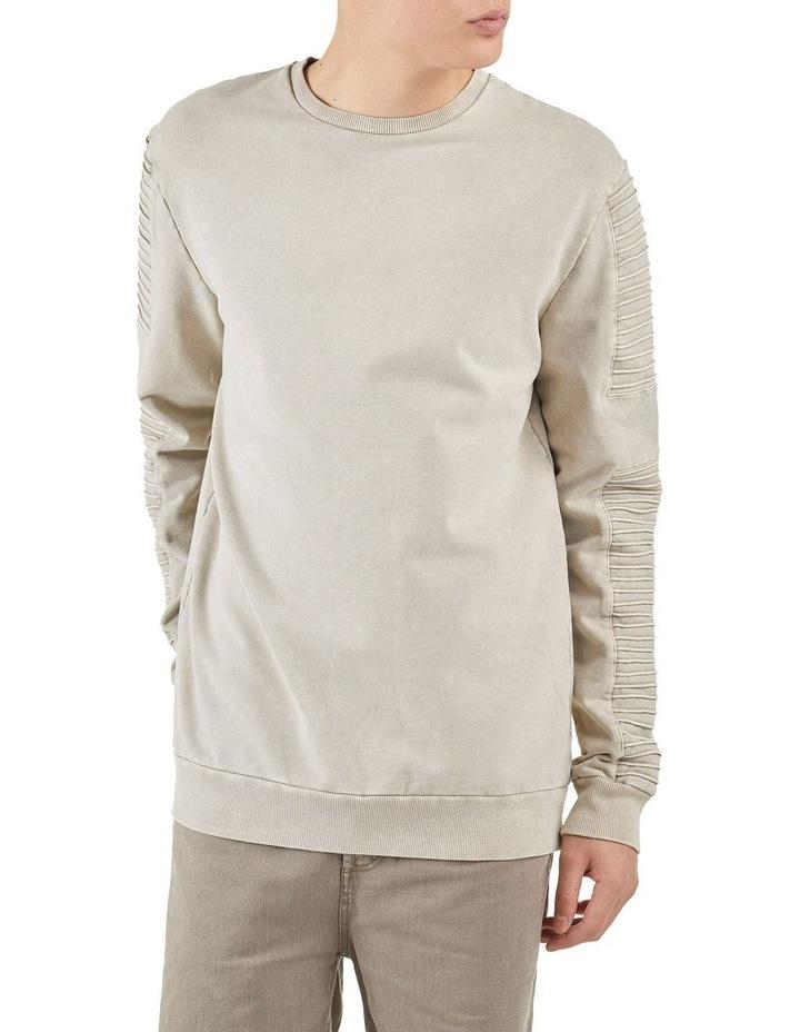 Montana Crew Neck Pin Tuck Sleeve Sweater Sanddune image 4