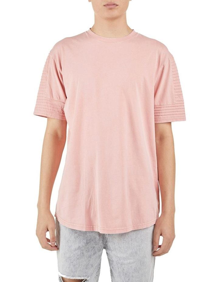 Maverick Pin Tuck Sleeve T-Shirt Coral image 1