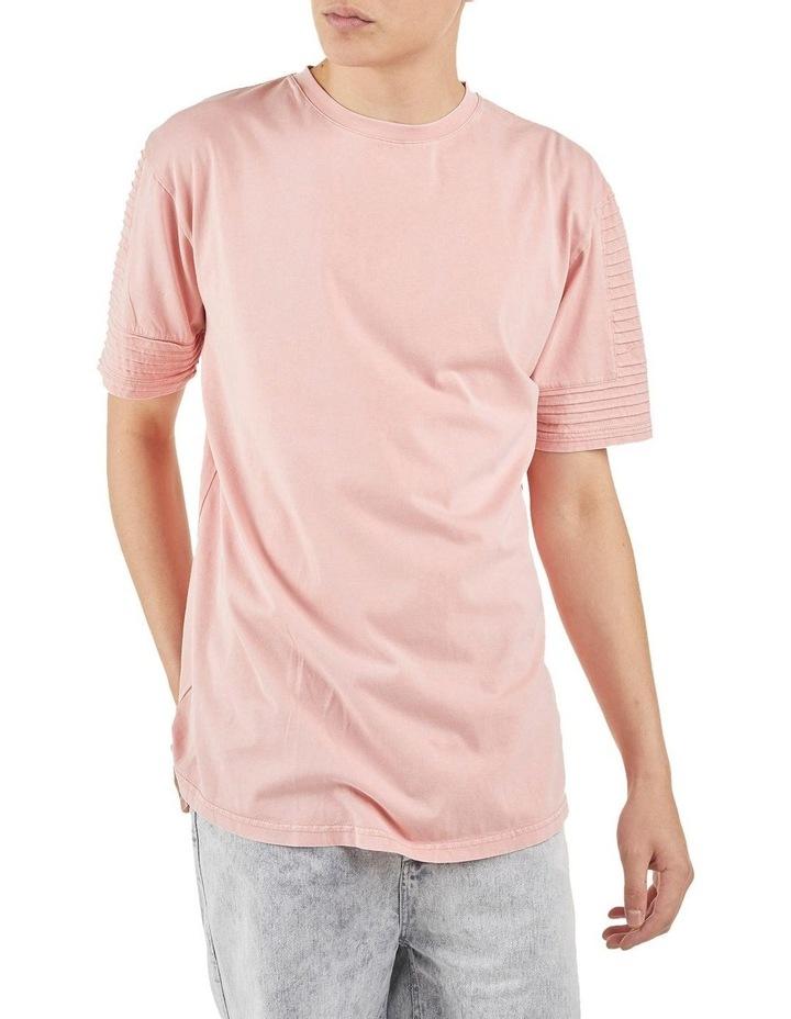 Maverick Pin Tuck Sleeve T-Shirt Coral image 2