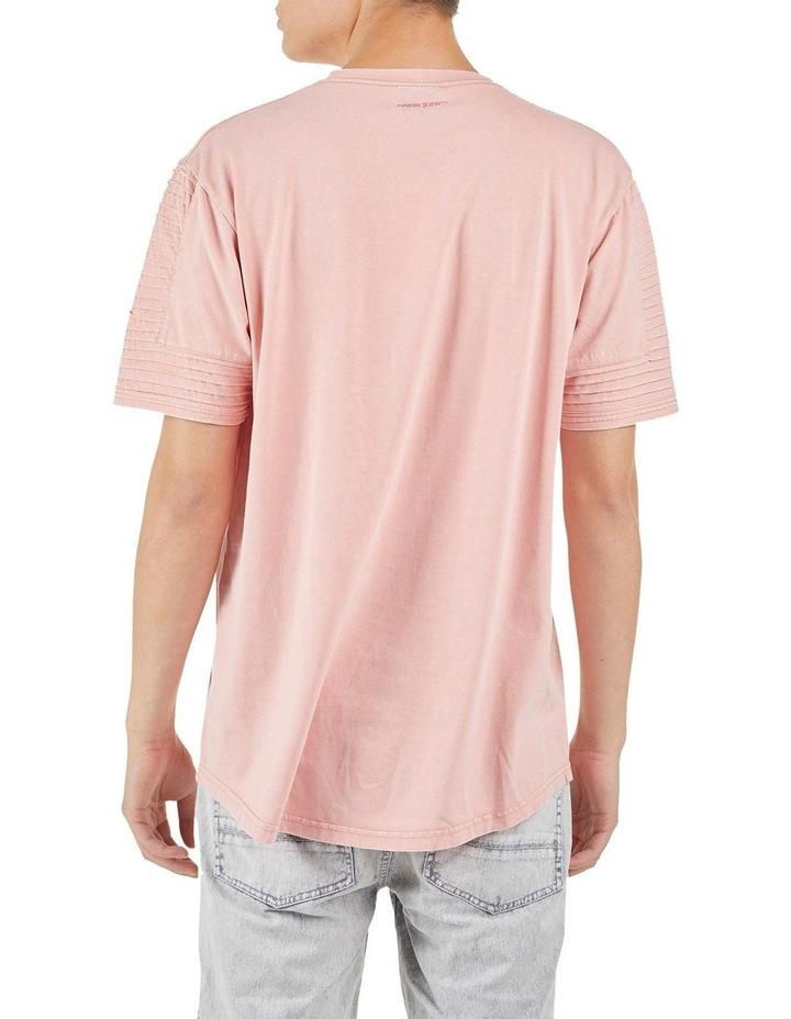 Maverick Pin Tuck Sleeve T-Shirt Coral image 3