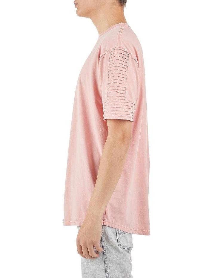 Maverick Pin Tuck Sleeve T-Shirt Coral image 4