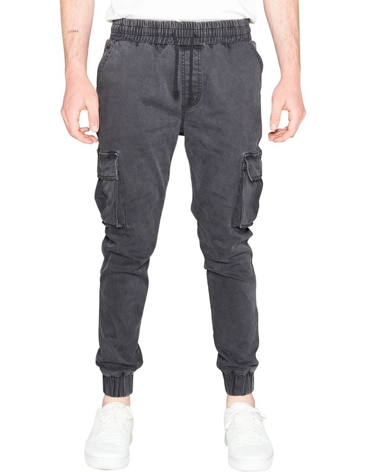 Prime Washed Denim Jogger With Utility Pockets image 1
