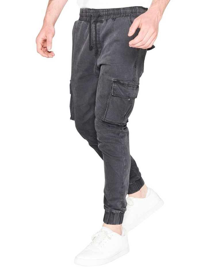 Prime Washed Denim Jogger With Utility Pockets image 2