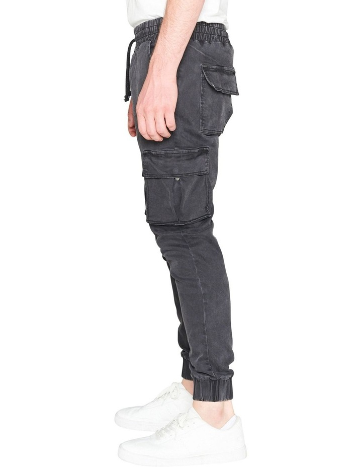 Prime Washed Denim Jogger With Utility Pockets image 3