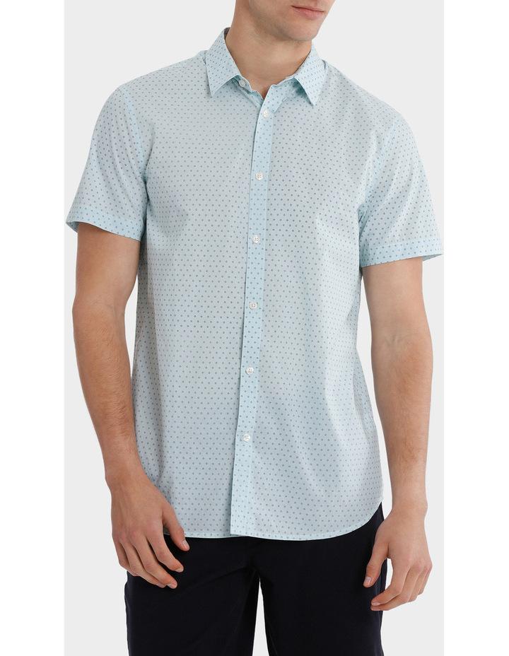 Montanita Short Sleeve Micro Print Voile Shirt image 1