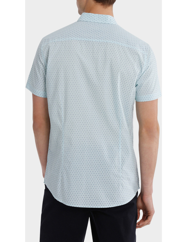Montanita Short Sleeve Micro Print Voile Shirt image 3