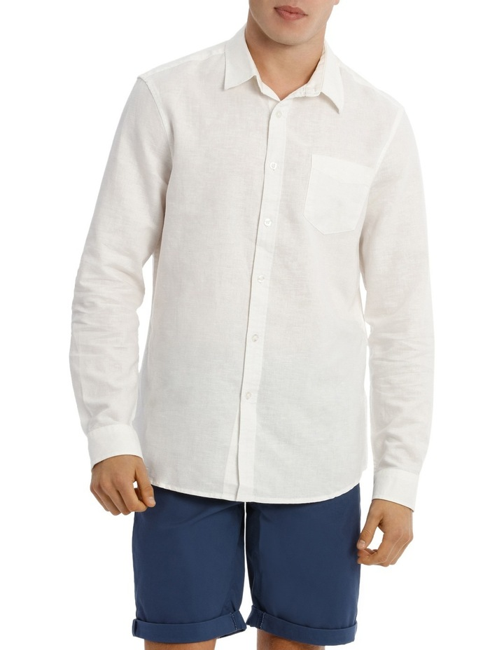 Byron Long Sleeve Linen Shirt image 1