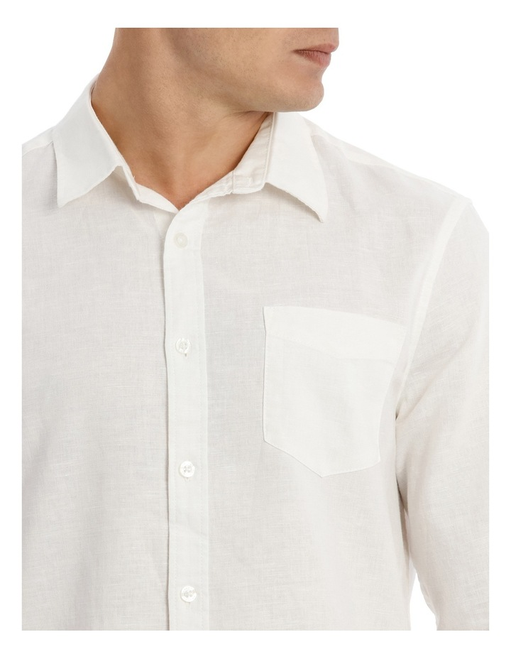 Byron Long Sleeve Linen Shirt image 4