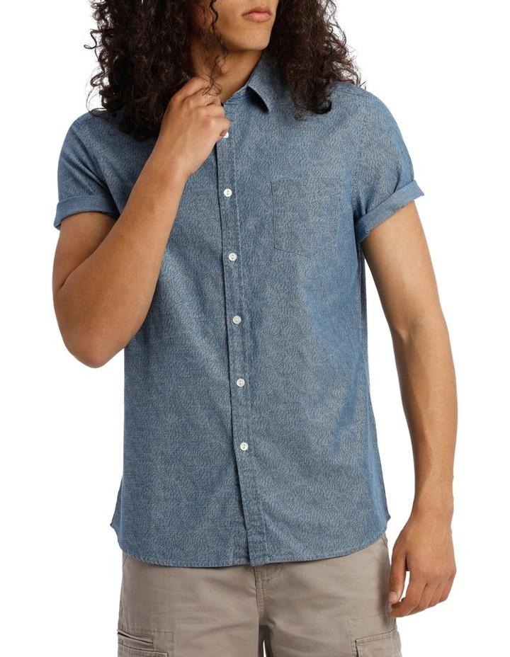 Trinity Short Sleeve Denim Print Shirt image 1