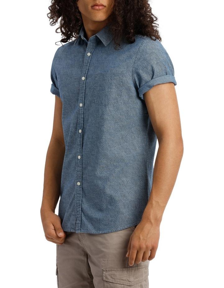 Trinity Short Sleeve Denim Print Shirt image 2