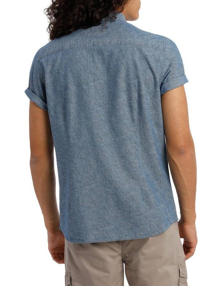 Trinity Short Sleeve Denim Print Shirt image 3