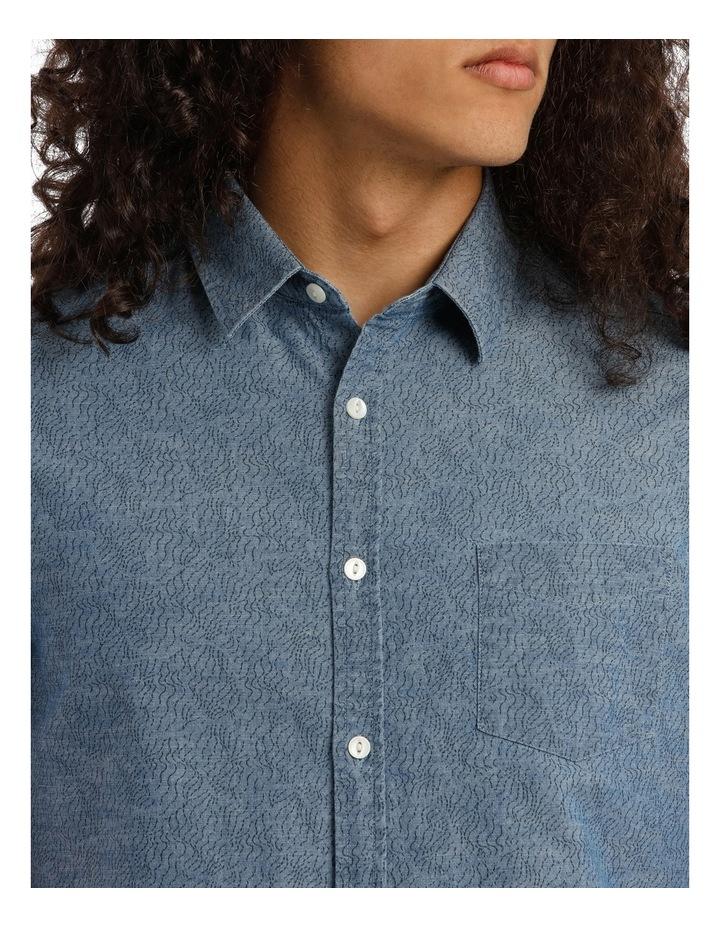 Trinity Short Sleeve Denim Print Shirt image 4