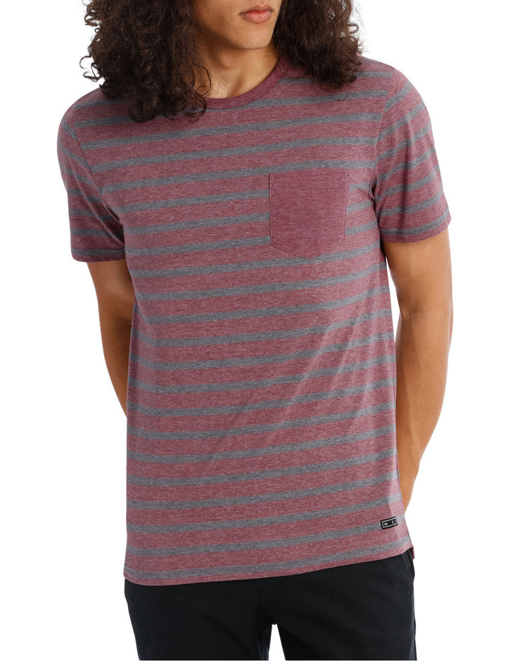Red Sand Stripe Tee image 1