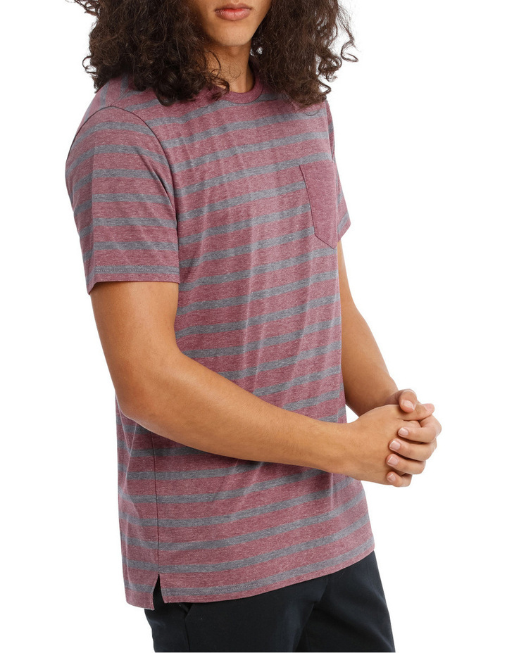 Red Sand Stripe Tee image 2
