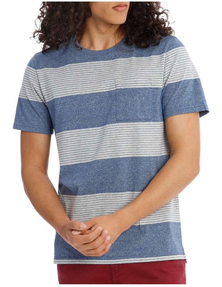 Blue Skies Short Sleeve Stripe Tee image 1