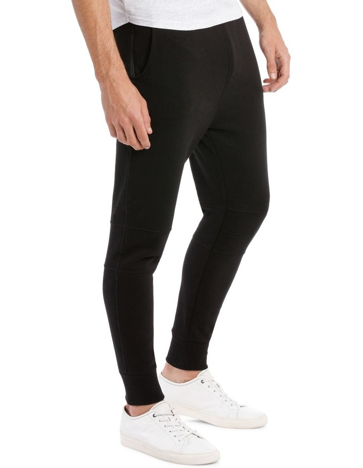 Back Court Elasticated Trackpant Jet Black Kiss Chacey