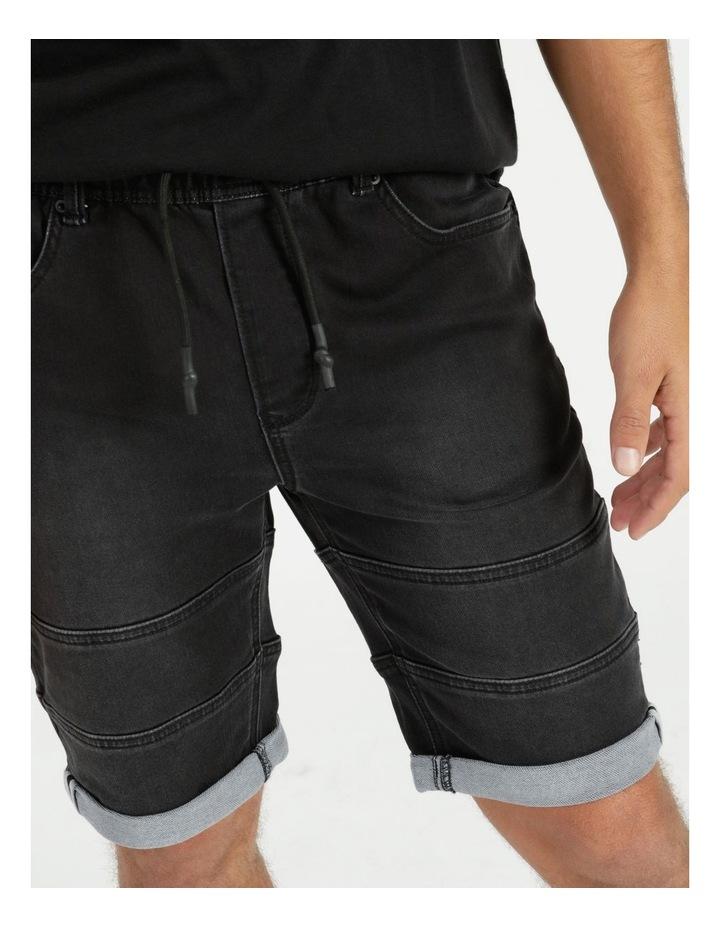 Khong Pull On Knit Denim Short Black image 2