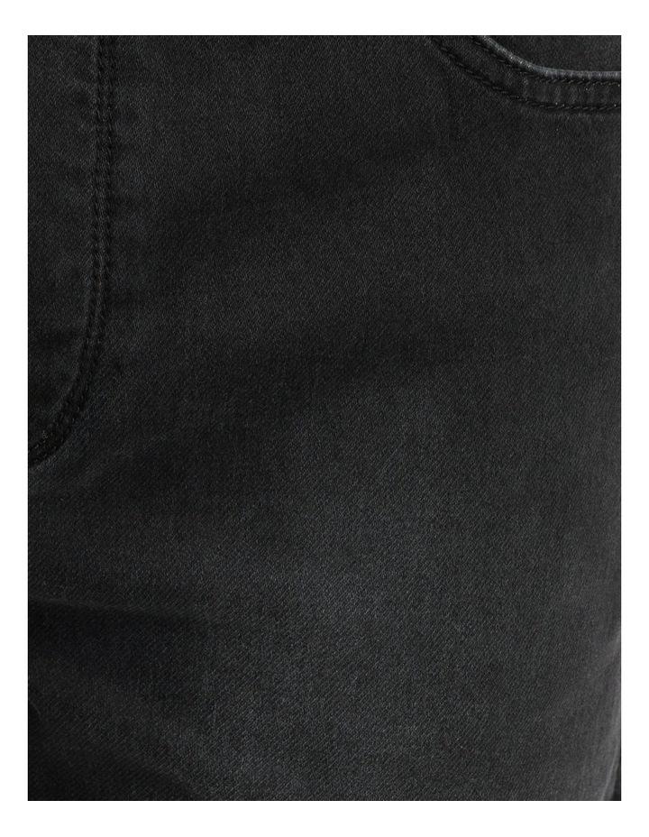 Khong Pull On Knit Denim Short Black image 7