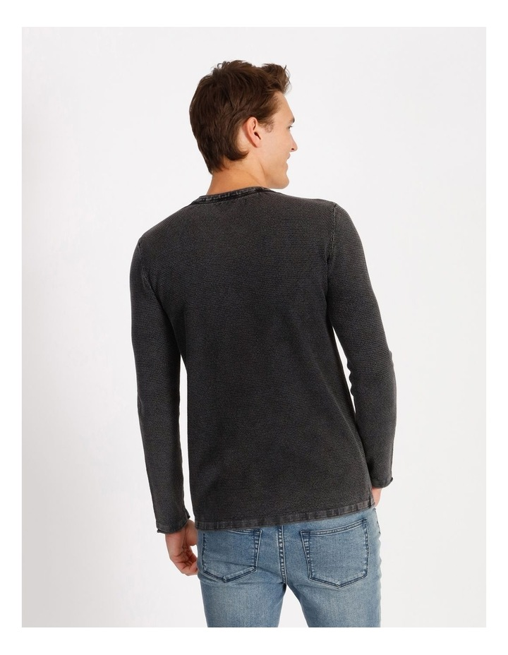 Bazza Textured Crew Knit Pullover image 3