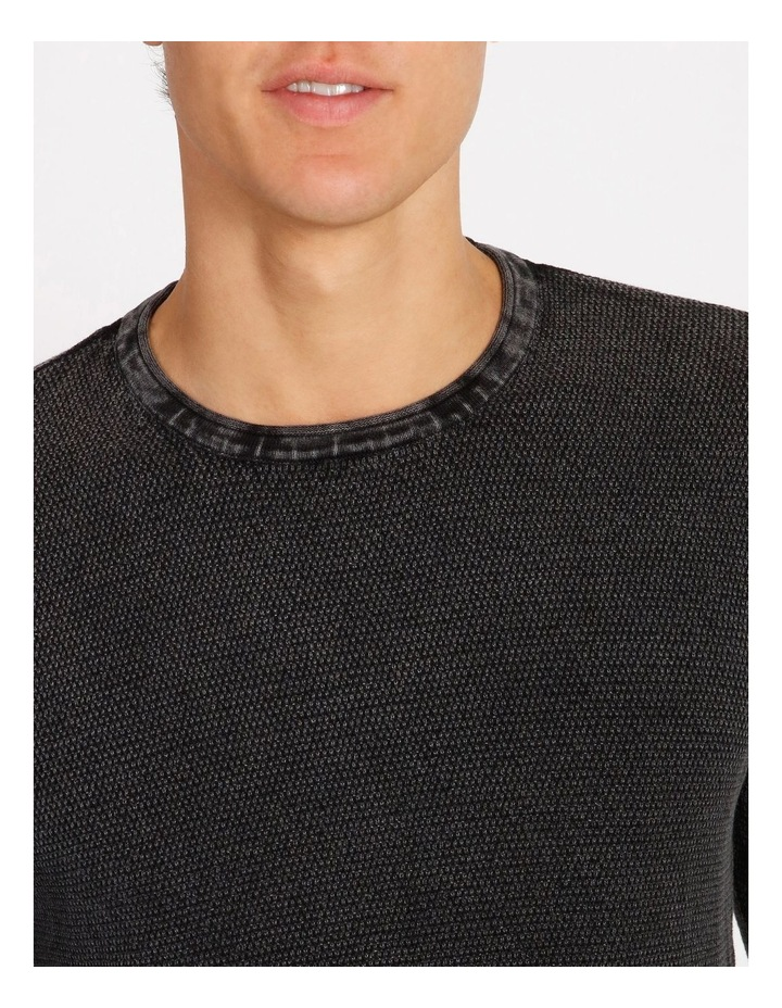 Bazza Textured Crew Knit Pullover image 4