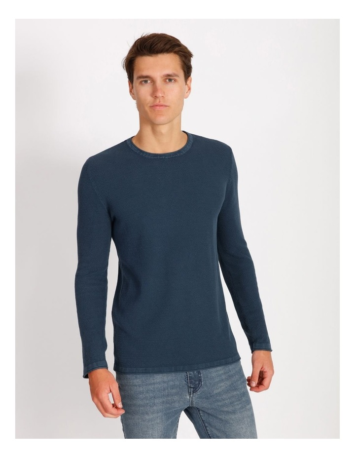 Bazza Textured Crew Knit Pullover image 1