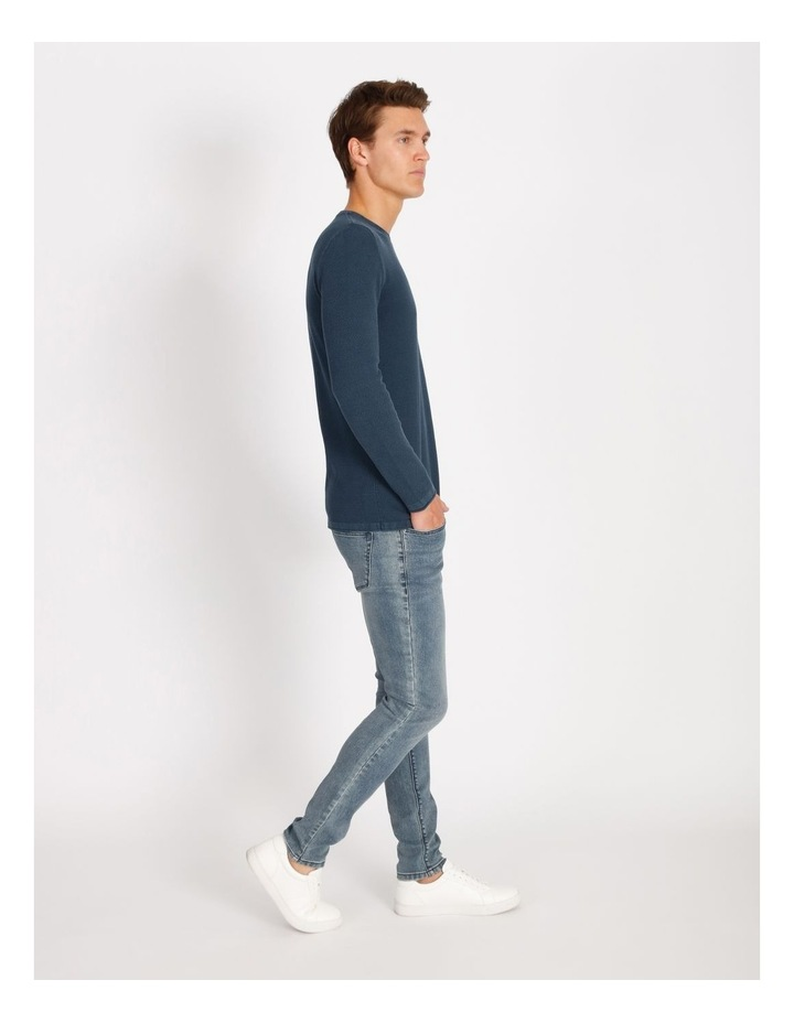 Bazza Textured Crew Knit Pullover image 2