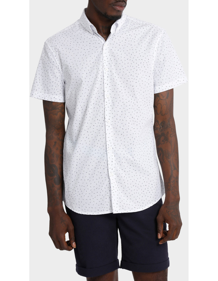 Beauchamp Micro Print Short Sleeve Shirt image 1