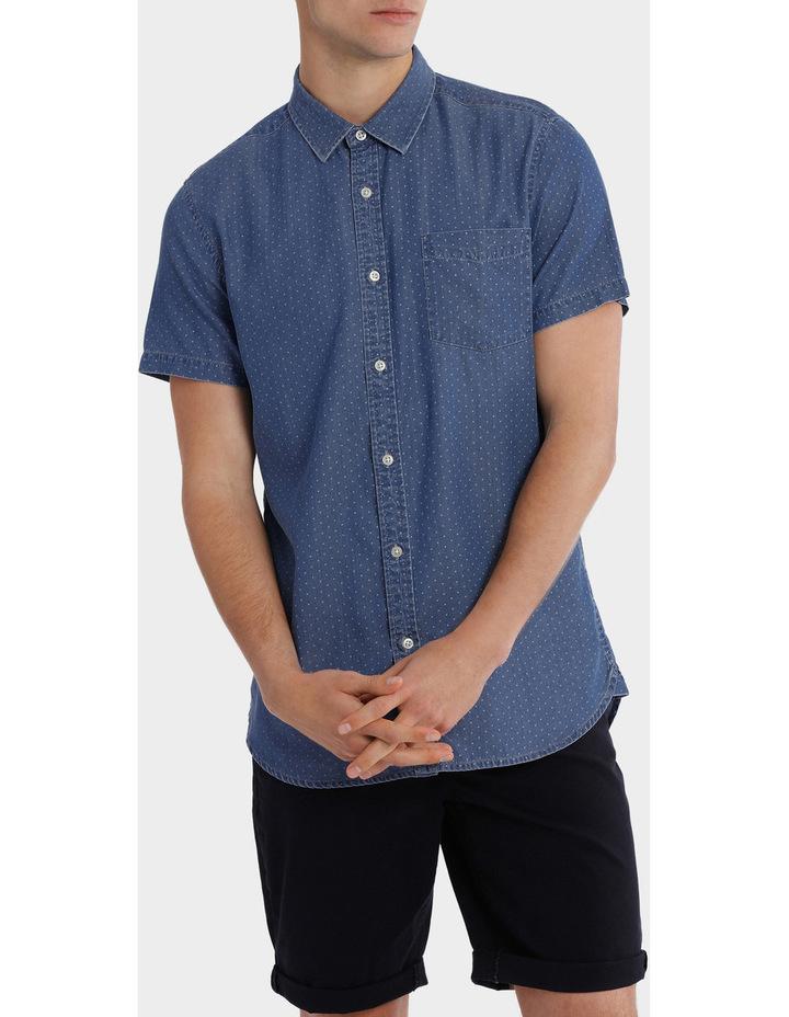 Fairfax Spot Short Sleeve Print Denim Shirt image 1