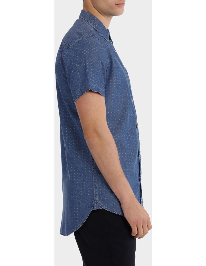 Fairfax Spot Short Sleeve Print Denim Shirt image 2