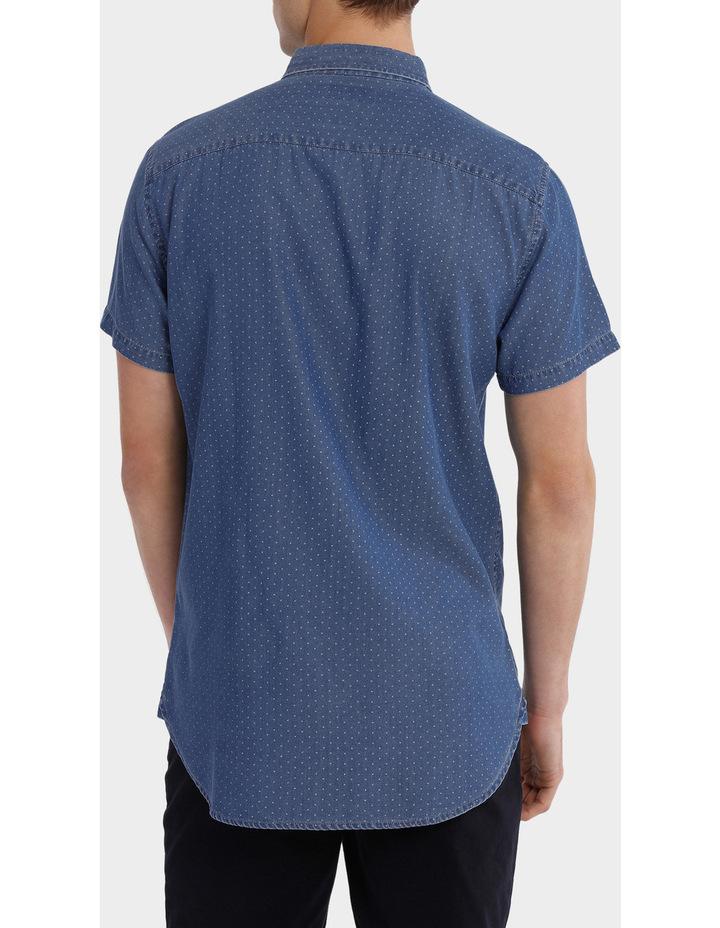 Fairfax Spot Short Sleeve Print Denim Shirt image 3
