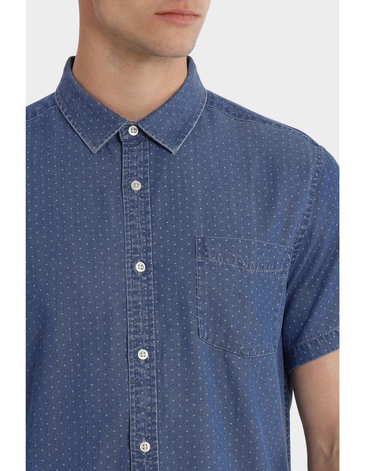 Fairfax Spot Short Sleeve Print Denim Shirt image 4